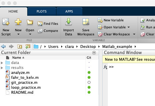Version Control with Git: Advanced: Integrate Matlab and Git